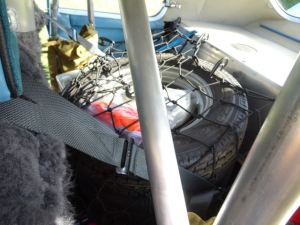 010 Back seat for spare tyres, fire extinguisher etc