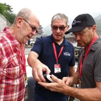 2016-06-12 Paul & Bas getting some GPS instructions from Pete